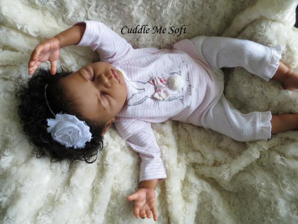 Biracial Reborn Baby Girl for sale by Fay O'Neal