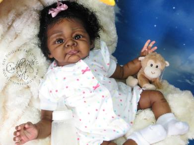 Ethnic Reborn Baby Girl for adoption
