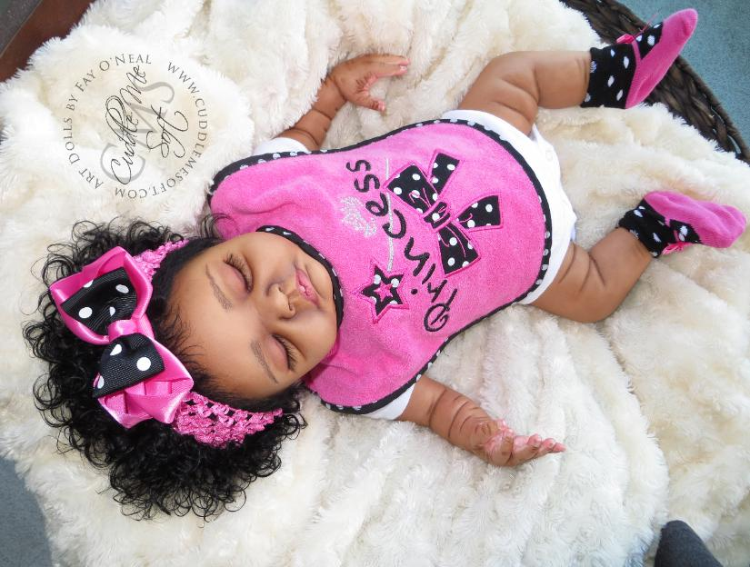 Adorable Ethnic Reborn Baby Girl For Sale by Fay O'Neal