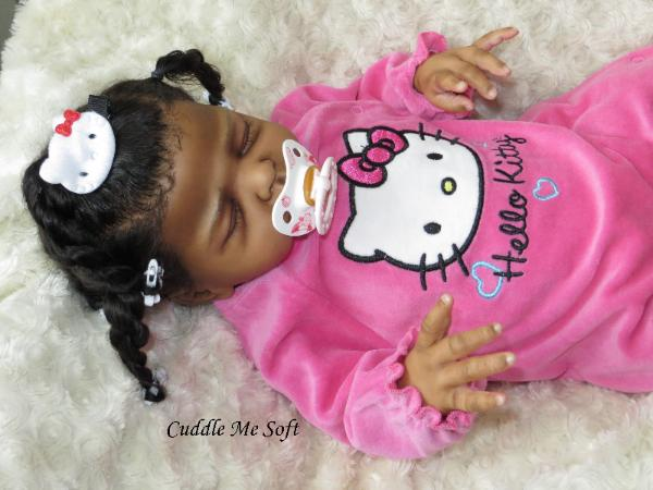Ethnic Reborn Baby Girl for adoption - Sweet Caroline by Marita Winters