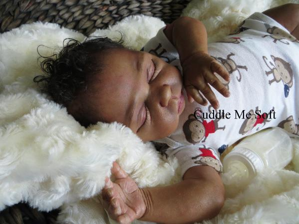 Realistic Biracial Reborn Baby Boy Zachary Linde Scherer Kit