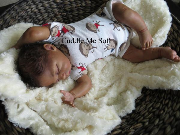 Lifelike Biracial Reborn Baby Boy Zachary Linde Scherer Kit